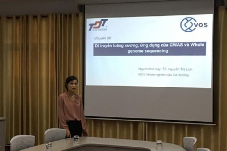 Dr. Nguyen Thi Lich presented at the seminar